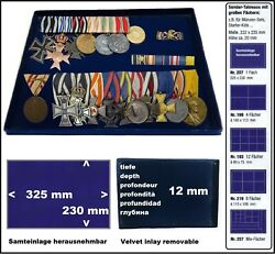 Look 1-207 Coin Trays 12 13/16x9 1/16x0 15/32in For Protect Medal Militaria