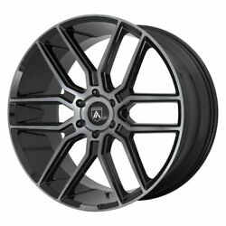 Four 4 20x9 Asanti Black Baron Et 30 Black Grey 6x135 Wheels Rims