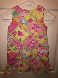 Girls Lilly Pulitzer Classic Shift Dress Tropical Jungle Theme Size 5