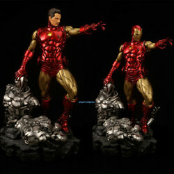 Iron Man Statue Comic Version Resin Figure Led Light Painted 1/4 Scale In Stock