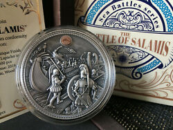 The Battle Of Salamis Sea Battles 5 Dollars 2 Oz Silver Coin 2019 Niue Available