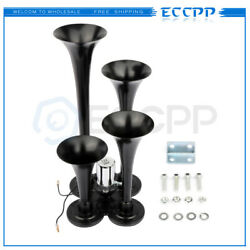 4 Trumpet Train Air Horn Kit Loud For Truck Pickup Ford Chevy Ram Toyota