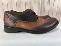 John Fluvog Tri Color Men's Wingtip Brogue Shoes Size US 9 M $130.00