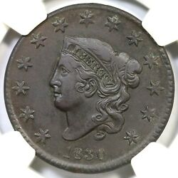 1830 N-6 R-4 Ngc Au Details Med Lett Matron Or Coronet Head Large Cent Coin 1c