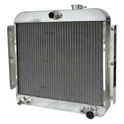 For Chevy Corvette 55-56 Afco 80163-s-ss-y Street Rod Performance Radiator W Fan