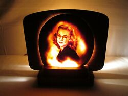 Vintage Antique Cameo Carved Womenand039s Portrait Sea Shell Lamp Art Artist Sign Hb