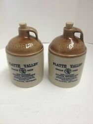 2 Vintage Platte Valley Straight Corn Whiskey Jugs By Mccormick Distilling Co.