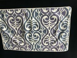 Pottery Barn Lennox Lumbar Pillow Cover Blue / Purple 26 X 16 Sold Out