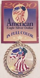 2000 Handpainted Dollar Limited Edition Vintage Silver 1-ounce Coin Rare