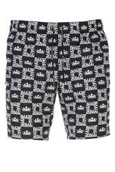 DOLCE amp; GABBANA Printed Polyester Swim Shorts With Monogrammed Bag M4A55T $294.76