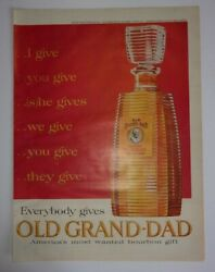 1963 Old Grand Dad Bourbon Whiskey Advertisement