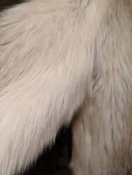 Pre-owned 1xl Rare Vintage White French Angora Goat Jacket 3/4coat Clean