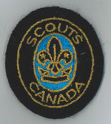 1990's Scouts Of Canada / Canadian - Beaver Scout Leader Cloth Beret / Hat Patch