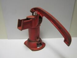 Vintage Antique Sears Gpi-1 Red Cast Iron Hand Crank Well Water Pitcher Pump