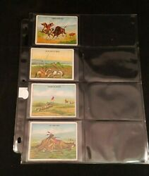 4 Vtg Hassan Cigarette Cards Indian Life In The 60s Tight Place Lassoing Buffalo