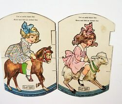 Rare Lot Of 10 Advertising Paper Dolls Cut Out Rooster Duck Horse Rabbit Bear