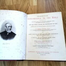 Circa 1900 Leather Analytical Concordance To The Holy Bible Robert Young