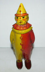 Neat Vintage 8 Tall Lindstrom Johnny The Clown Tin Wind Up Toy Rare