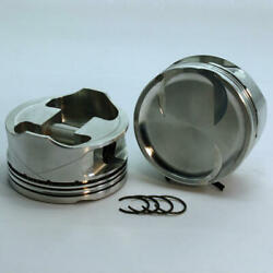 Dss Piston Set 2-4818-3710 3.710 Bore -21cc Dish 2v For Ford 46l Overbored