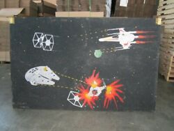 Collectors Unique One Of A Kind Custom Star Wars Painting On Plywood Unsigned
