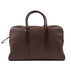 Nwt 3290 Tom Ford Chocolate Brown Pebbled Leather And039buckleyand039 Large Overnight Bag