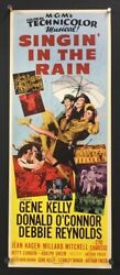 Singinand039 In The Rain Original Insert Movie Poster Gene Kelly Hollywood Posters