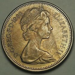 1969 Great Britain 5 New Pence Bu Beautiful Unique Toned Choice Unc Ss