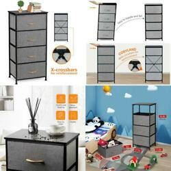Cosyland 4 Drawer Dresser Storage Tower Fabric Organizer Unit Stable For Bedroo