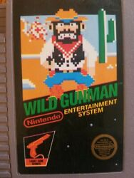 Misprint Extremely Rare Print Shift Error For This Game Nes Wild Gunman 5 Screw