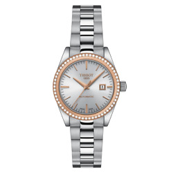 Tissot T-my Lady Automatic 18k Gold Silver Dial Women's Watch T930.007.41.031.00