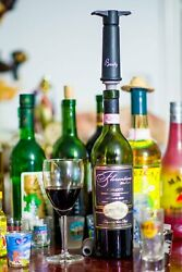 Basily Wine Vaccuum Pump + 2 Stoppers. Extracts Excess Oxygen And Preserves Wine