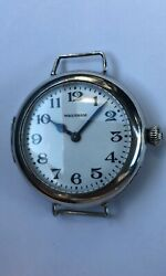Antique Ww1 Waltham Trench Watch Very Unusual Rare Trench Watch Home Guard
