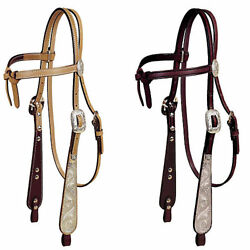 Tory Leather Tory Silver Buckaroo Knotted Browband Headstall $280.74