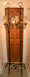 Two Antique Torchiere Lamps From The 1920and039s - From The Debbie Reynolds Estate
