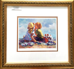 """Lucelle Raad Summer Secrets"""" 11/950 Limited Edition Lithograph Adorable Kids"""