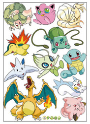 Pokemon Individual Various Wall Decals Decorative Stickers
