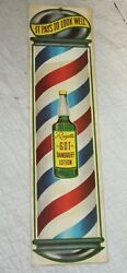 Vintage Style Rayette Lotion Barber Signs Carboard Garage Man Cave She Shed Shop