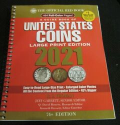 2021 Whitman Official Red Book Of Us Coins- 74th Edition - Arge Print New
