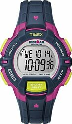 Timex Watch Ironman 30 Lap Ragged Special Mid-size Navy / Pink T5k813