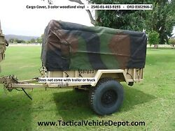 M101 A1 A2 A3 3/4 Ton Trailer Side And End Racks, Bows And Top Kit - Woodland Camo