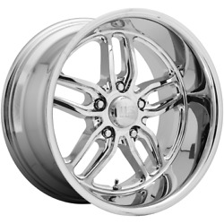 Fits 4 Wheels Us Mag 1pc Cten Chrome Plated 20x10 Jeep Rims 5x127 5x5 +1 Offset