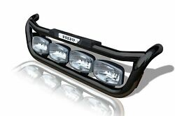 Grill Bar + Step Pad + Side Led For Volvo Fe 2013+ Stainless Black Steel Truck