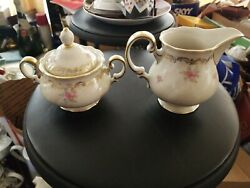 Hutschenreuther Selb Bavaria Germany Abt Paul Miller Creamer Cup And Sugar Bowl