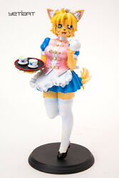 Al Cat Girl Chinese Dress Hand Painted Resin Yetiart Figurine Pre-order