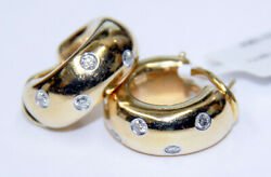 Retired And Co Etoile Collection 18k Gold And Platinum Diamond Earrings