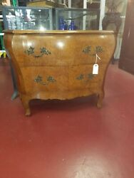 Local Pickup Antique Burl Walnut Marble Bombay Entry Chest 1890