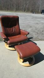 Ekornes Stressless Recliner Leather Lounge Chair Modern