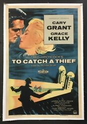 To Catch A Thief Original Movie Poster - Grant - Kelly 1955 Hollywood Posters