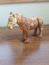 Cast Iron Horse Clydesdale Figurine Draft Horse Statue 5 Hubley