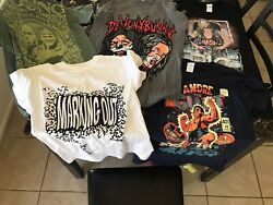 Lot Of 5 Wrestling T-shirts Pro Wrestling Crate All Size S All Never Worn